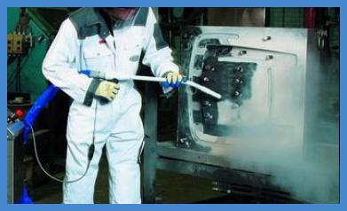 Очистка сухим льдом в действии || Балтийская химическая компания