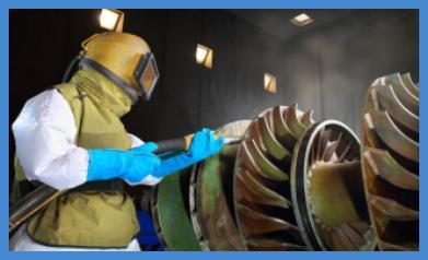 Водопескоструйная очистка в действии || Балтийская химическая компания